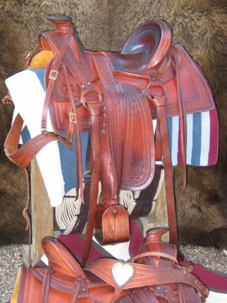 1870s Half-Seat Stock Saddle, Southwest Colorado Style, Hand