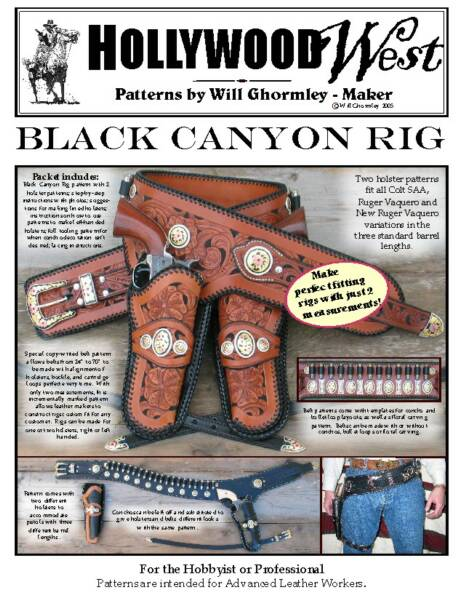 Will Ghormley-Maker, Holster Patterns, Will Ghormley -Maker, Quality